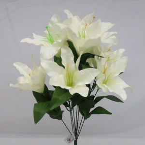 DAY LILY BUSH X9 WHITE  EACH