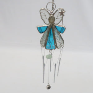 STAINED GLASS ANGEL WIND CHIME EACH