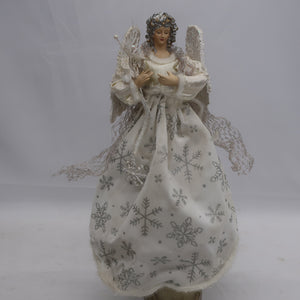 12  ANGEL TREETOPPER WHITE SILVER