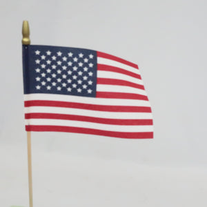 USA CLOTH FLAG 6in x 4in  12PC