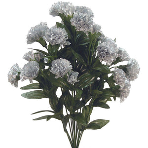 METALLIC CARNATION BUSH X14 SILVER