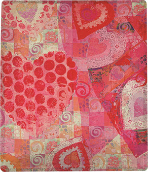 COLLAGE HEARTS MCO 50X60 POLY THROW