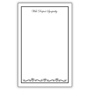 LARGE WITH DEEPEST SYMPATHY CARD 50PC