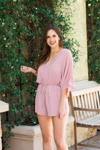 Midnight Mauve Romper