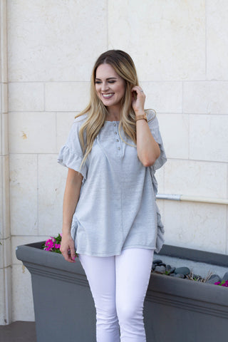 Breezy Button Up Top