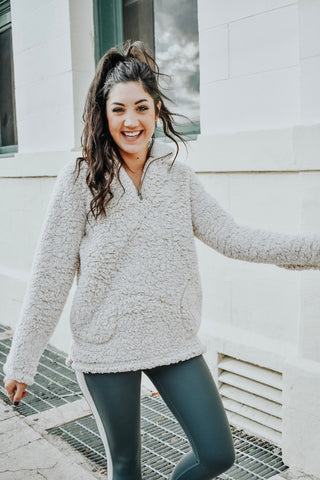 Head In The Clouds Sherpa Pullover