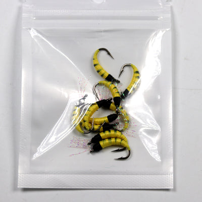 "[10PCS] Size 6 Yellow Pupa Larva ""Fly for Trout Fliegen Fischen"" - primeonlineshop"