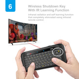 Mini Keyboard with 2.4G Wireless - IR Remote Control for Smart TV Tablet PC - primeonlineshop