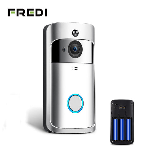 FREDI Wireless WiFi Videoüberwachung + Klingel Night Vision | Prime Shop