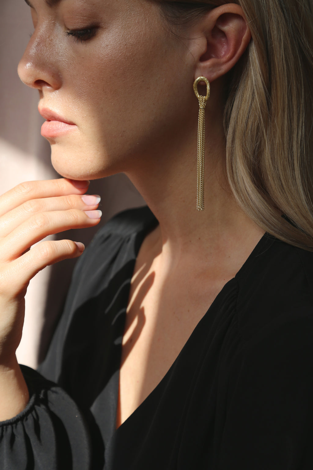 Rain Earrings Gold