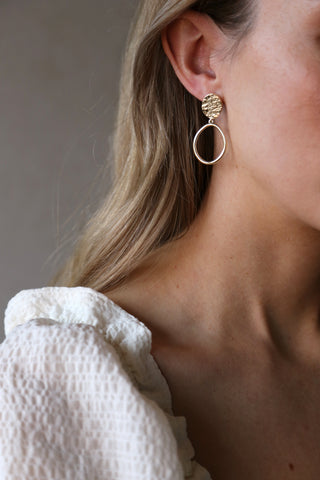 Reflection Earrings Gold