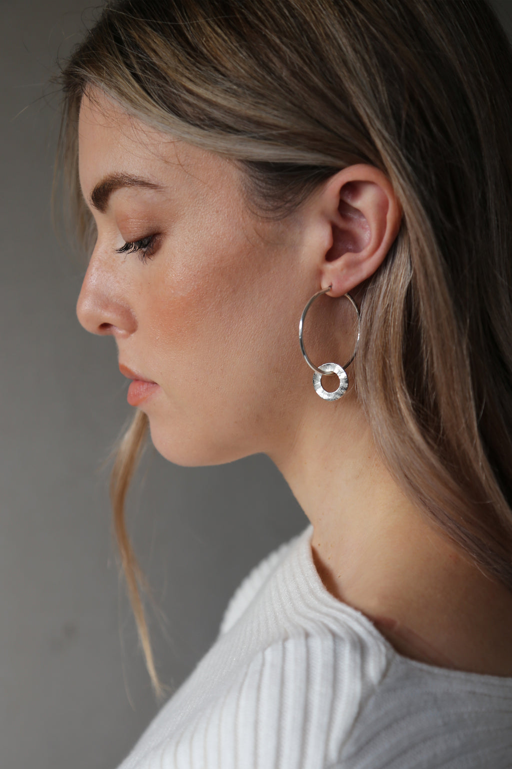 Beam Earrings Silver