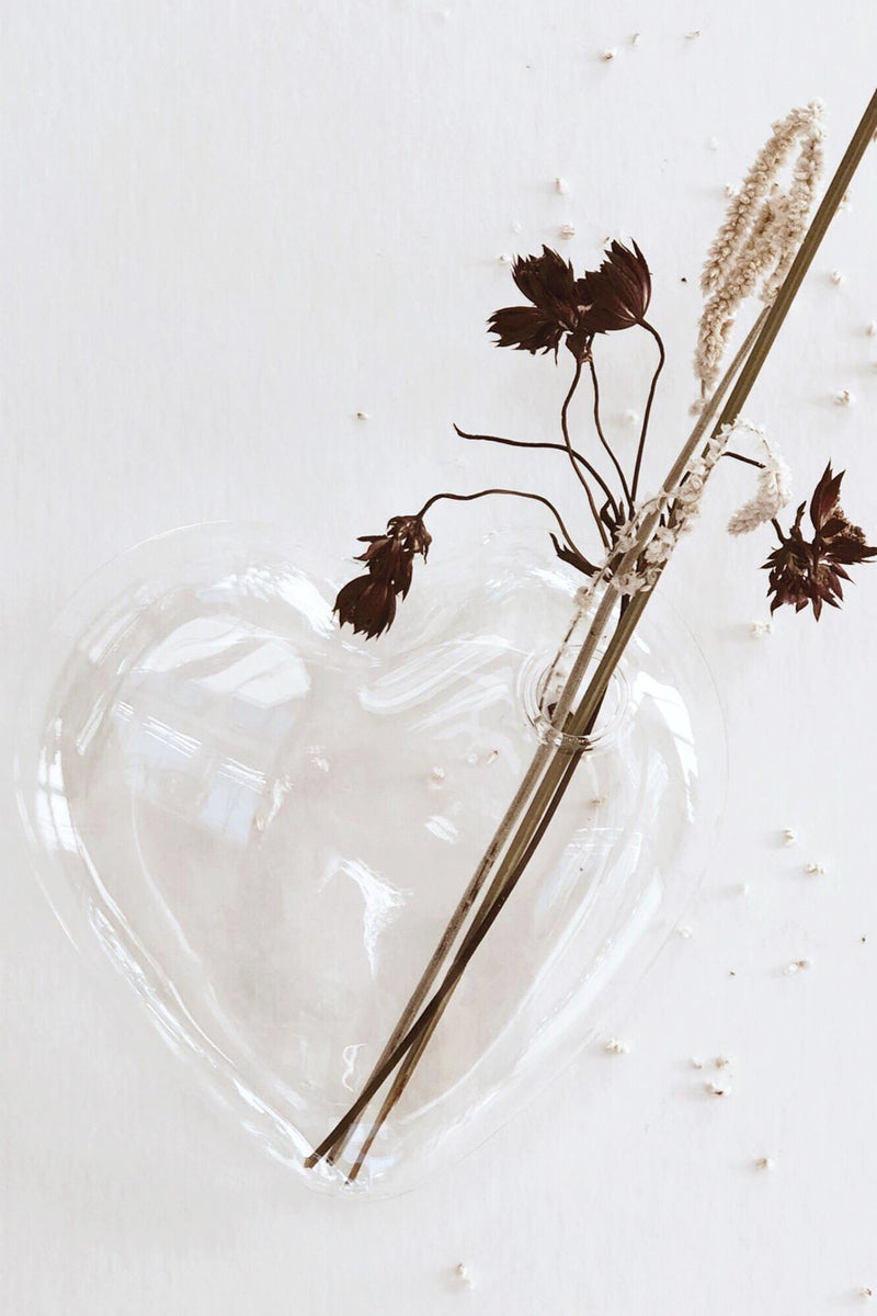 Small Glass Sitting Heart