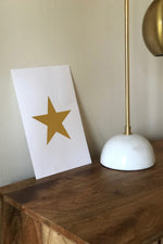 Small Gold Star Print