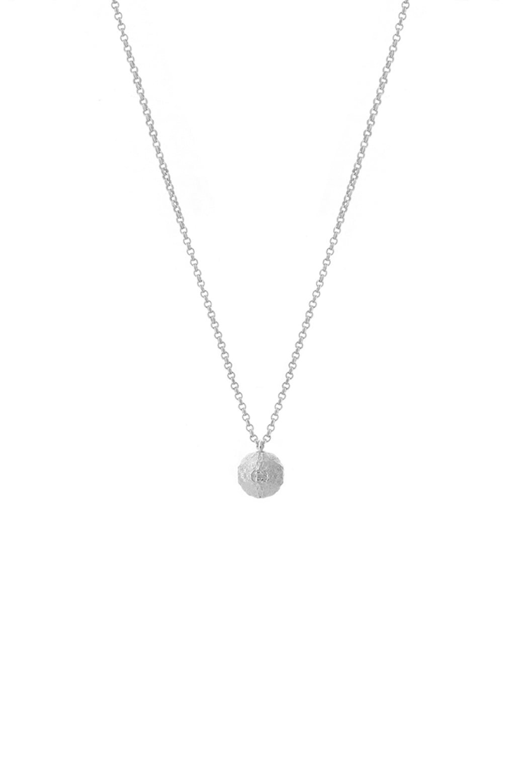 Orb Necklace Silver