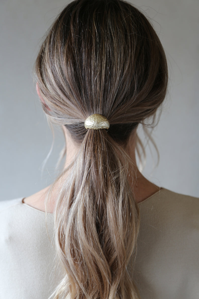 Dome Hair Cuff Gold