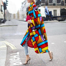 Load image into Gallery viewer, Fashion Geometric Color Printed Coat