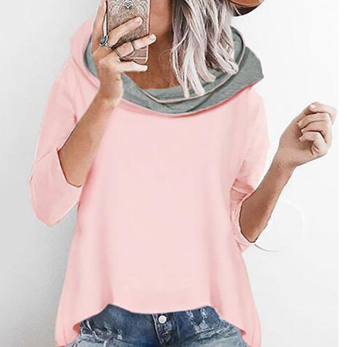Fashion Loose Hooded Irregular Hoodies Sweatshirts