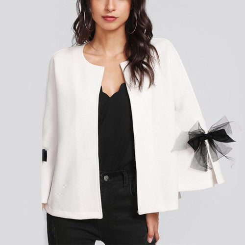 Women's Cardigan Bow Jacket
