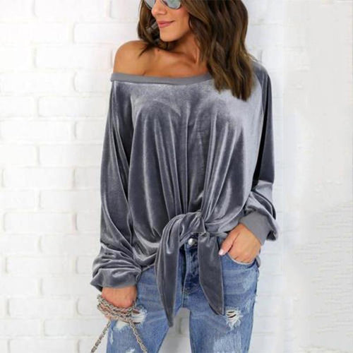 Sexy Loose Bow Tie Hoodies Sweater Top