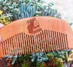 Wolfman Whiskers Beard Comb | Pocket-Sized Peach Wood Beard Comb