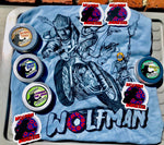 Wolfman Super Soft Baby Blue T-Shirts + Beard Balm Combo Pack