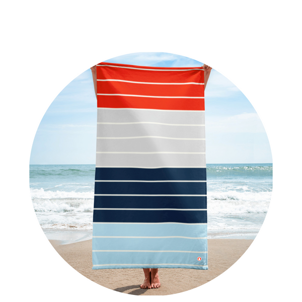 Beach Towel / Preppy Stripe