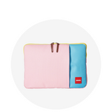 Laptop Sleeve / Pink & Aqua