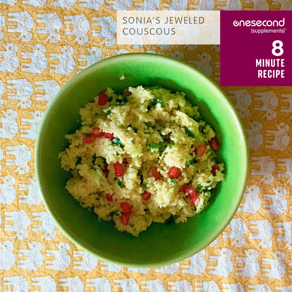 Sonia's Jeweled couscous