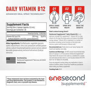 Daily Vitamin B12 Spray (30-Day Supply)
