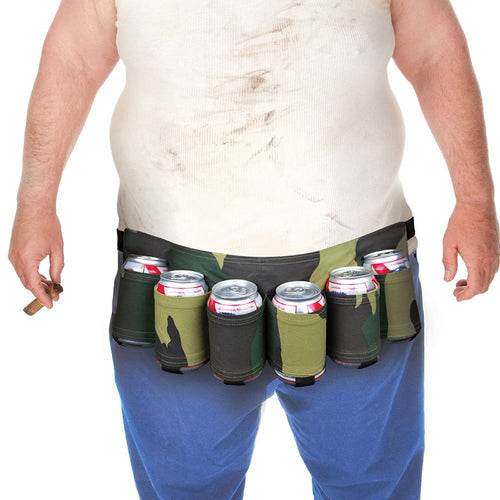 6 Pack Portable Waist Beer Can/Bottle Holder