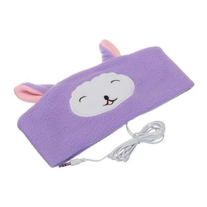 Kids Safe Headphones Volume Limited Ultra-Thin Speakers Cute Animals Headband