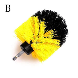 1/3pcs Yellow Power Scrubber Brush Set For House Cleaning Tools 3 Sizes Bathroon Cleaning Brush Tools Dropshipping