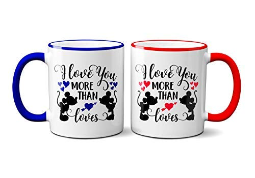 I Love You More Than Mickey Loves Minnie Mug