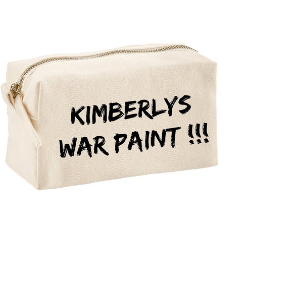Personalised MakeUp Bag Funny War Paint Design