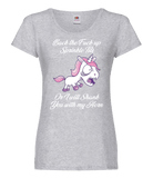 Angry Unicorn T-Shirt Ladies Fit