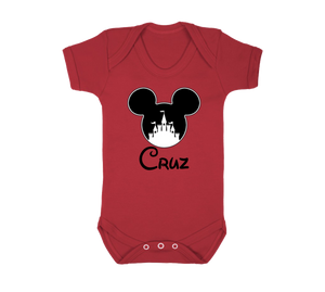 Mickey Castle Personalised Baby Vest