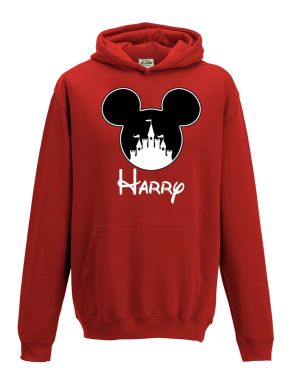 Personalised Mickey Castle Hoodie