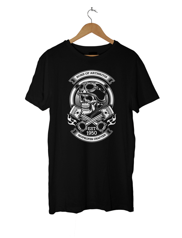 Sons of Arthritis - Ibuprofen Chapter, Biker T-Shirt