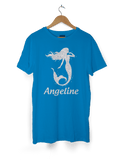 Girls Glittery Mermaid Personalised T-Shirt
