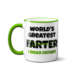 World's Greatest Farter - I Mean Farther - Funny Fathers Day Mug