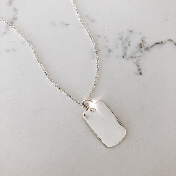 The Silver ID Tag Necklace
