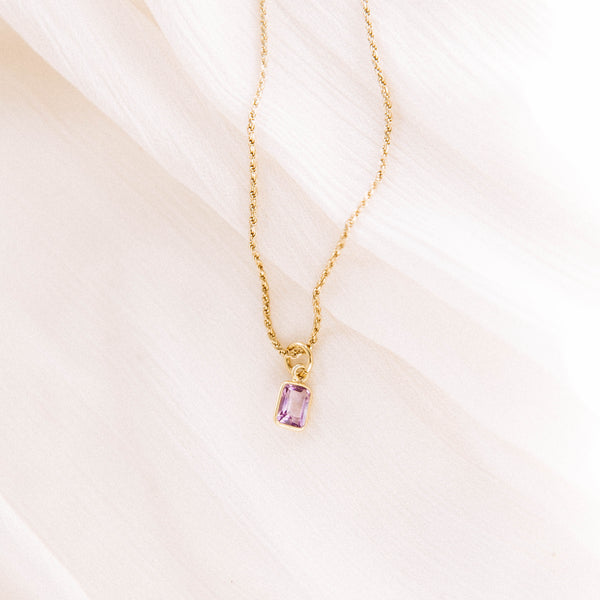 The Amethyst Pendant Necklace