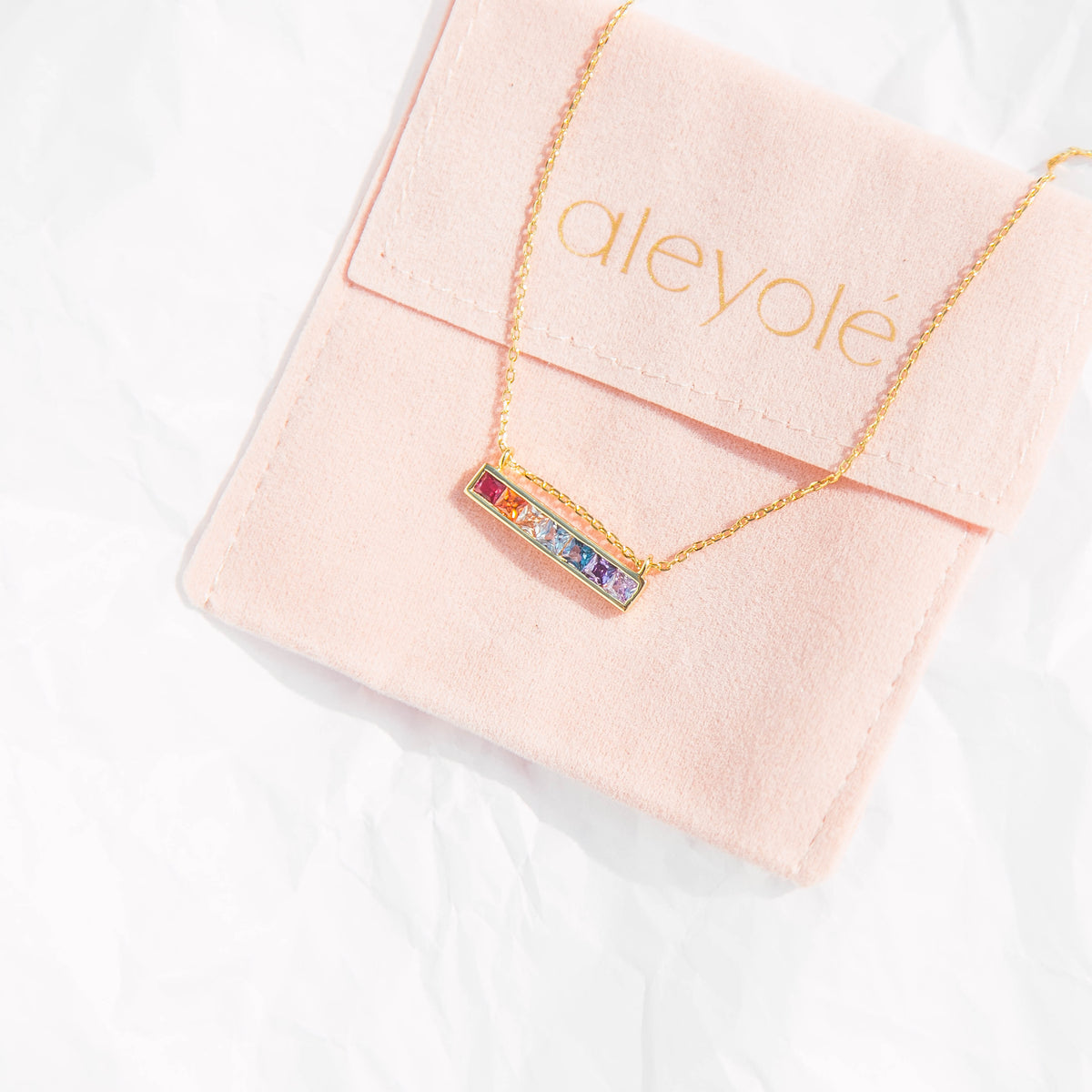 Candy Bar Gold Necklace