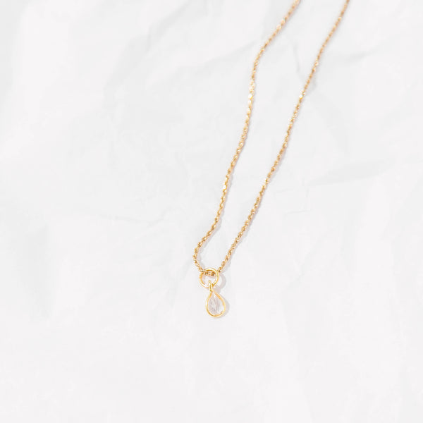 The Citrine Teardrop Pendant Necklace
