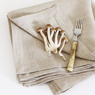Karoo Linen Natural Napkins by Beagle + Basset for Jimnojean