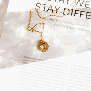 Honey & The Moon Pendant in 18kt Gold