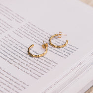 Bamboo Gold Hoop Earring by KBT