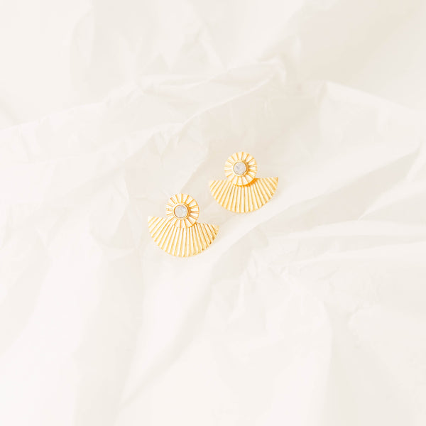 The Sunny Earrings in Moonstone