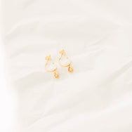 Lillie drop earrings in Citrine Quarts